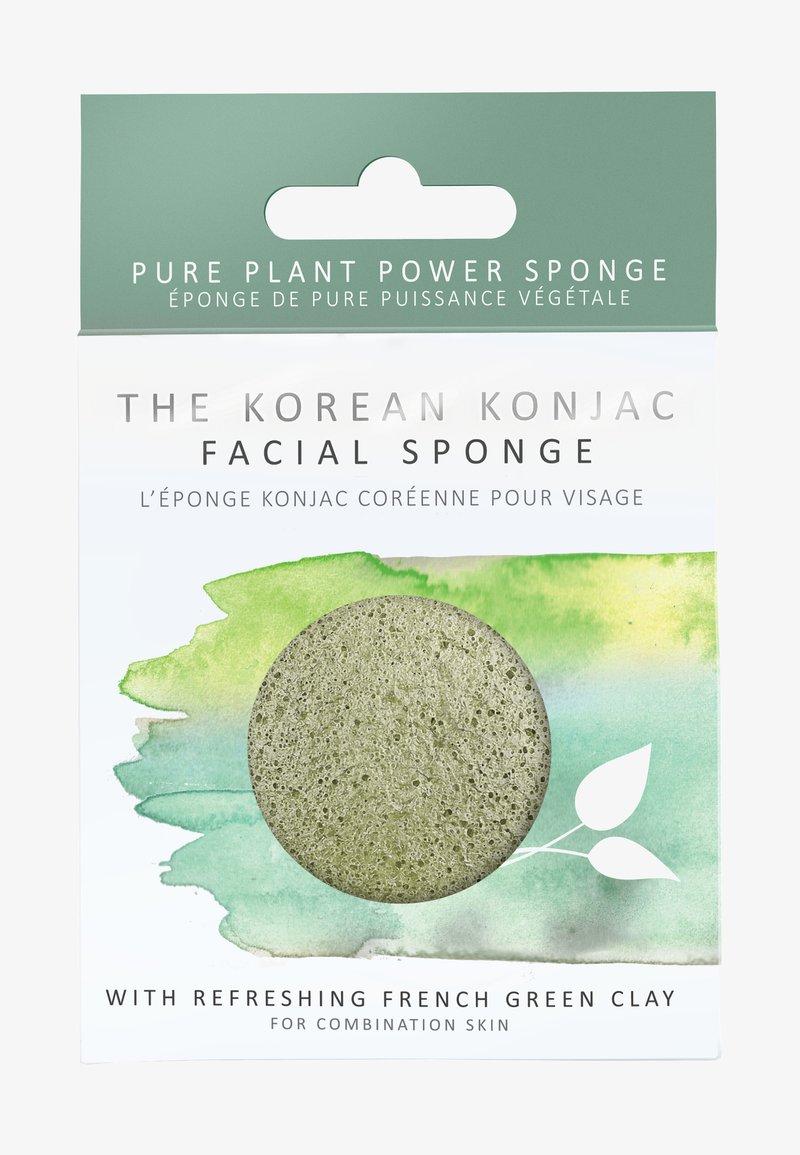 Konjac Sponge - KONJAC FACIAL SPONGE - Skincare tool - grüne tonerde