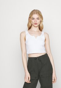 Topshop - WAFFLE NOTCH 3 PACK - Top - black/white/grey - 3