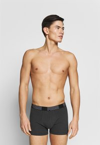 Puma - BIG LOGO BOXER 2 PACK - Shorty - black - 2