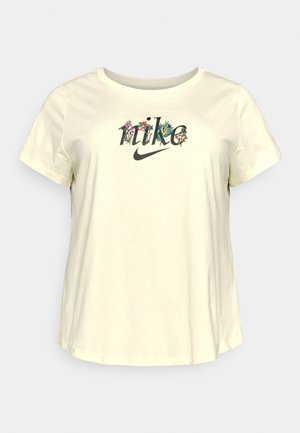 TEE NATURE PLUS - Print T-shirt - coconut milk