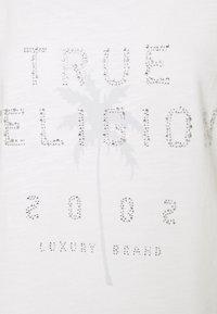 True Religion - BOXY CREW NECK PALM TREE  - Print T-shirt - blanc - 6