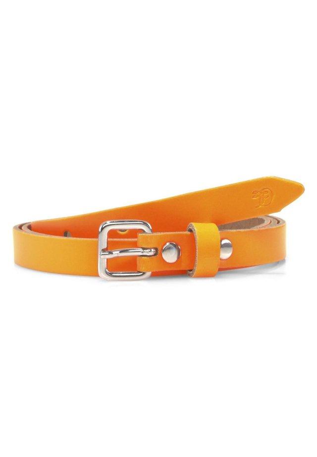 BELTS NEON-TAILLENGÜRTEL AUS LEDER - Belt - orange