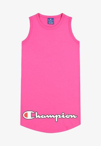 Jersey dress - neon pink