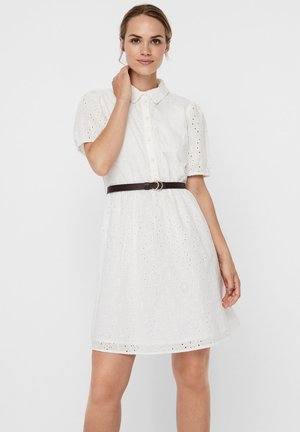 STICKEREI - Shirt dress - snow white