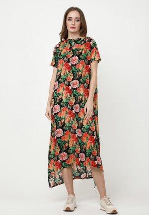 ADELINARA - Maxi dress - schwarz orange