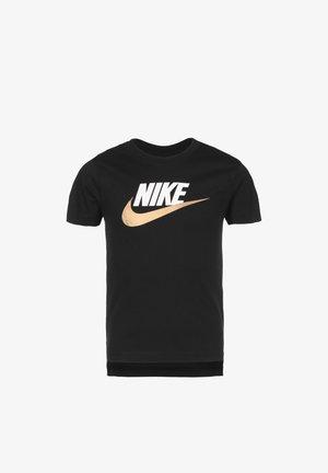 T-Shirt print - black / gold