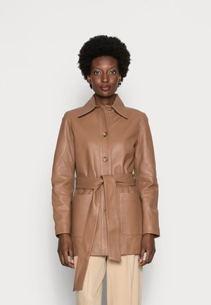 LEONORA - Short coat - hazelnut