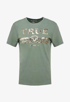 CREW SEQUIN THYME - T-shirt print - khaki