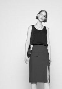 HUGO - RASUSA - Pencil skirt - dark blue - 3