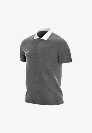Polo shirt - charcoal/white