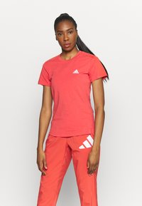 adidas Performance - Basic T-shirt - crered/white - 0