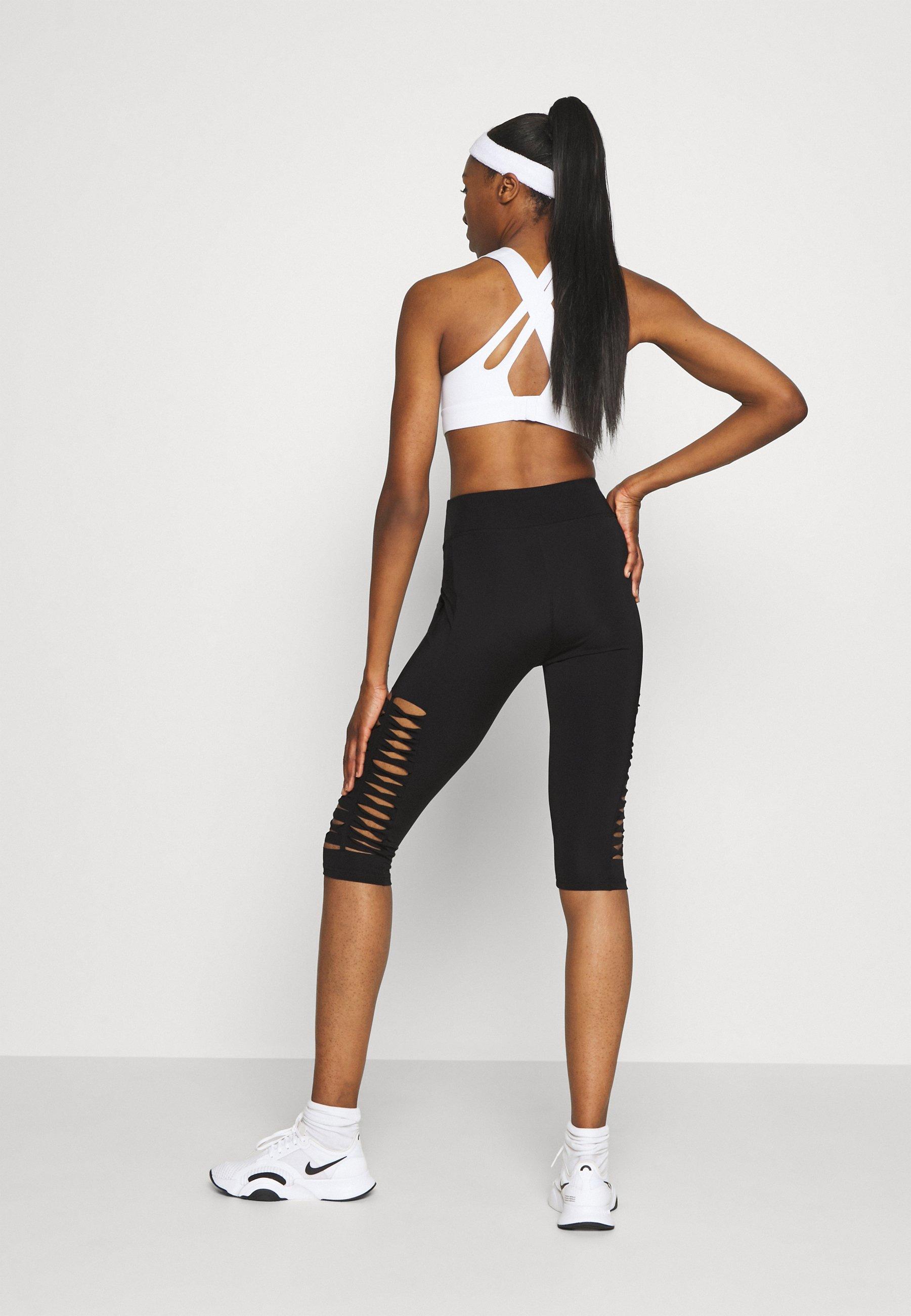 Even&Odd active 3/4 sports trousers - black 4i6Iu