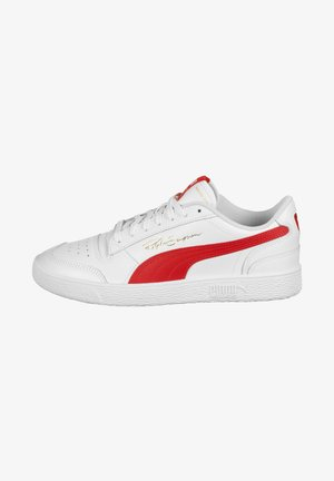 Trainers - Puma White-High Risk Red