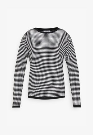 BUBBLE STRUCTURE - Jumper - white/black