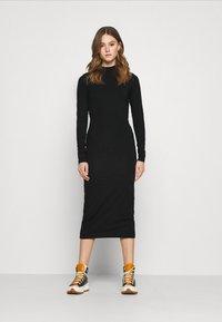 Weekday - BEGONIA CUTOUT BACK DRESS - Jersey dress - black - 0