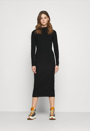 BEGONIA CUTOUT BACK DRESS - Jersey dress - black