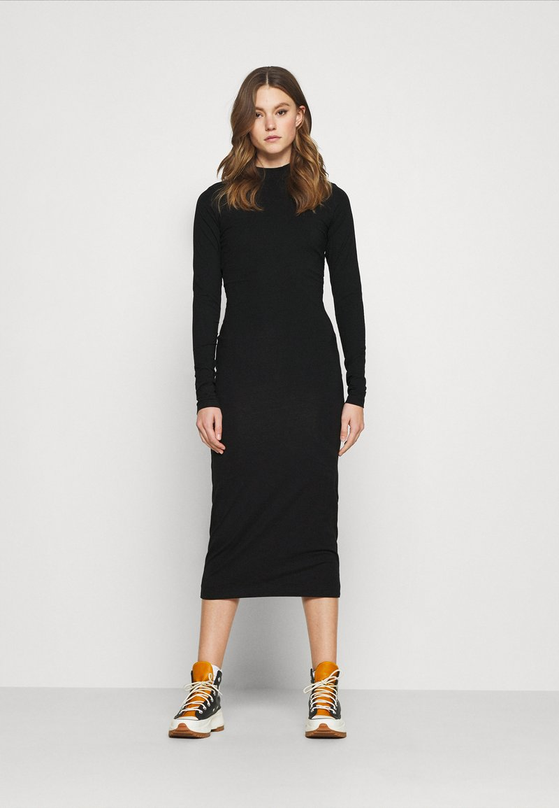 Weekday - BEGONIA CUTOUT BACK DRESS - Jersey dress - black