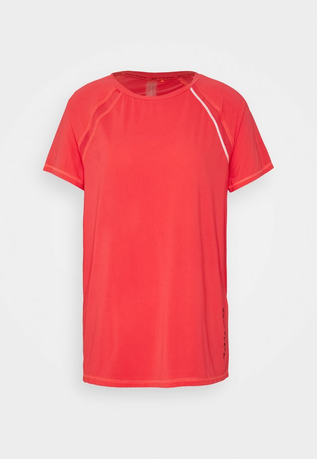 ONPPERFORMANCE TRAIN LOOSE TEE - T-shirts - fiery coral/black