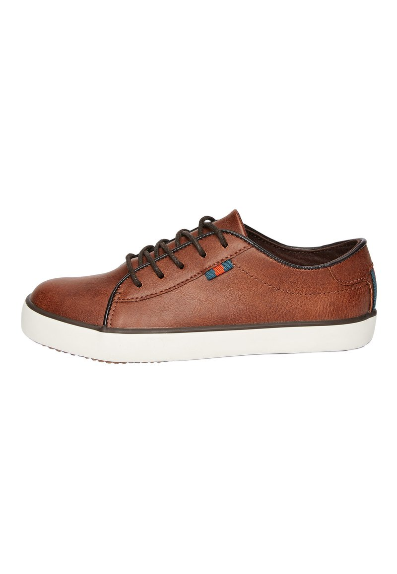 Next - TAN LACE-UP SHOES (OLDER) - Tenisky - brown