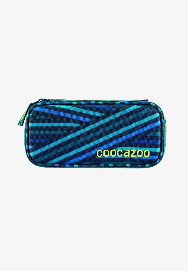 Pencil case - zebra stripe blue