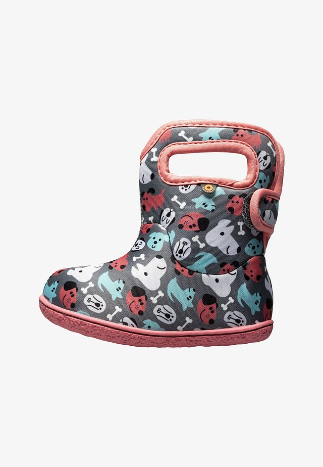 PUPPIES - Snowboots  - dark gray multi