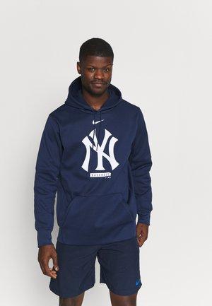 MLB NEW YORK YANKEES LOGO THERMA PERFORMANCE HOODI - Klubbkläder - midnight navy