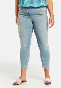 Samoon - Straight leg jeans - light blue denim - 0