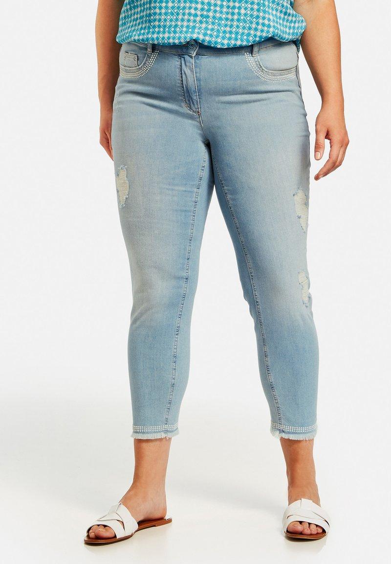 Samoon - Straight leg jeans - light blue denim