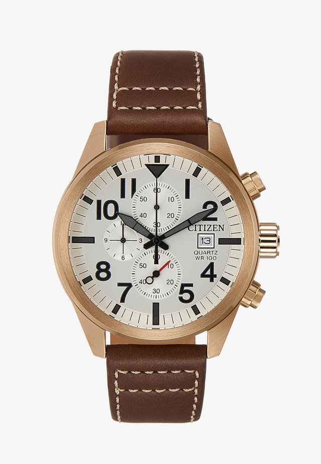 Chronograph - brown/gold-coloured