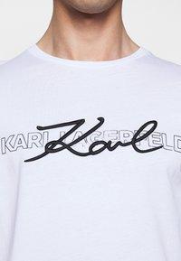 KARL LAGERFELD - CREWNECK - Long sleeved top - white - 5