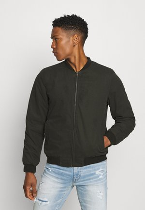 CANVAS BOMBER - Bomber Jacket - black