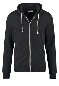 Pier One - veste en sweat zippée - black - 4