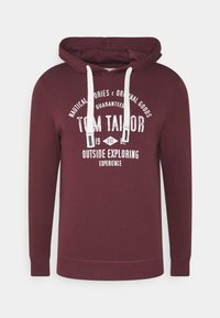 TOM TAILOR - HOODIE WITH PRINT - Hoodie - dusty wildberry red - 4
