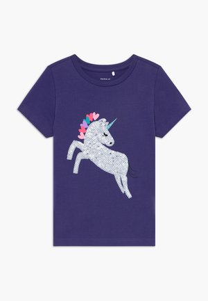 NKFDANIELLE - Camiseta estampada - navy blue