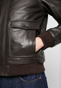 Serge Pariente - PILOT - Leather jacket - dark brown - 8