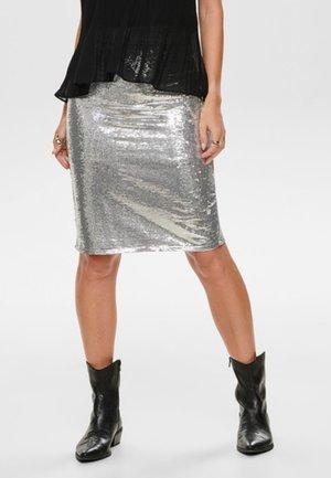 Blyantnederdel / pencil skirts - silver