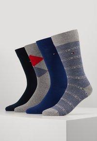 Tommy Hilfiger - 4 PACK MEN GIFTBOX ARGYLE - Socks - dark blue/grey/blue - 0