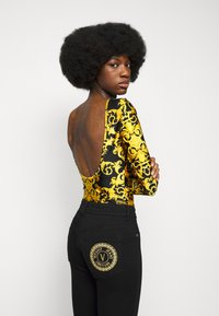 Versace Jeans Couture - LADY BUSTIER - Top sdlouhým rukávem - black - 3