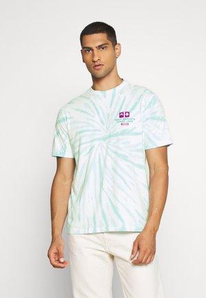 UNISEX TEE TIE DYE - Print T-shirt - mint chill
