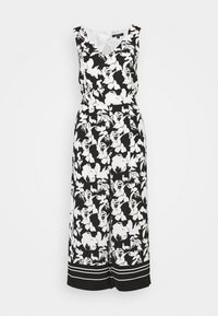 comma - OVERALL 3/4 - Jumpsuit - black/white - 4