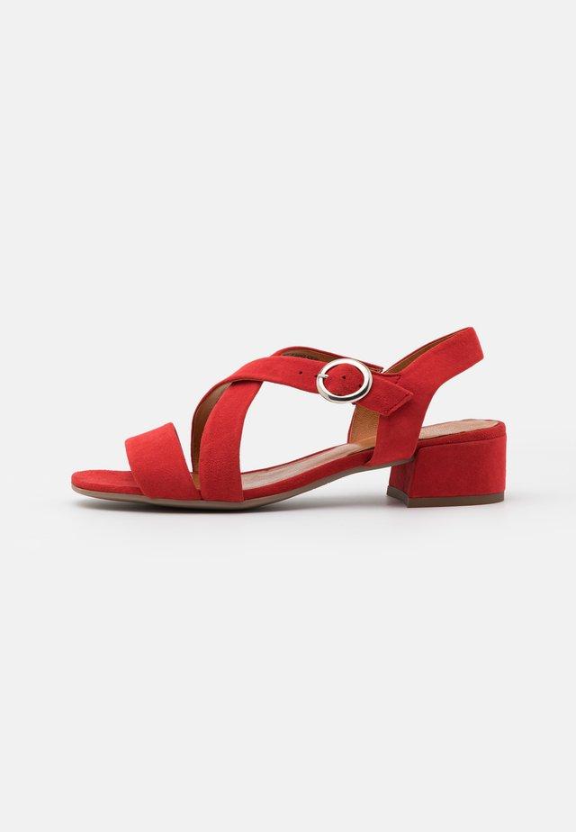 LEATHER - Sandały - red