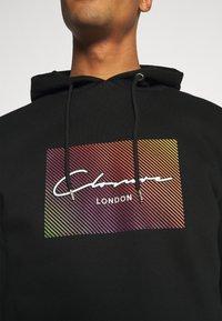 CLOSURE London - RAINBOW BLOCK HOODY - Kapuzenpullover - black - 5