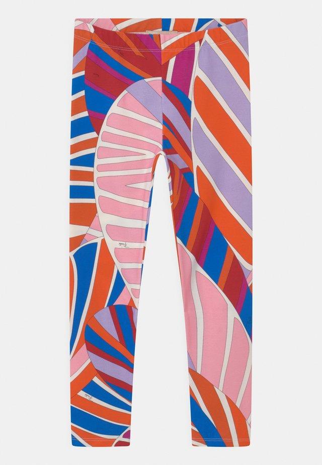 Legging - arancio/azzurro