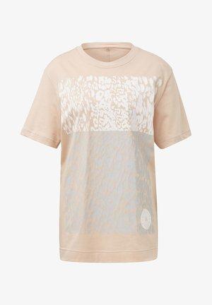 COTTON GRAPHIC T-SHIRT - Print T-shirt - beige