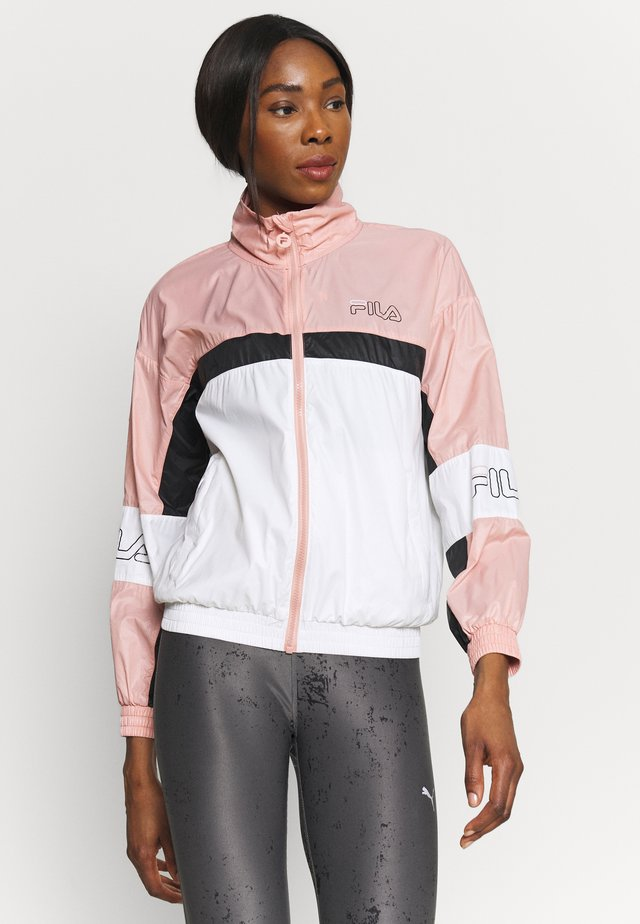 JADA BLOCKED JACKET - Sportovní bunda - coral cloud/bright white/black