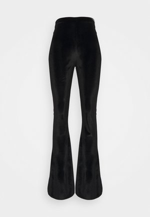 SLIT TROUSER - Bukse - black