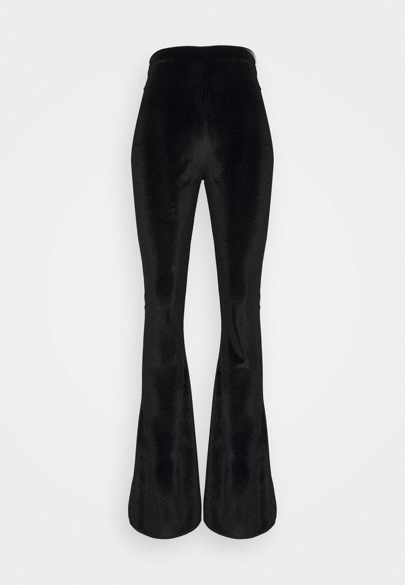 Missguided - SLIT TROUSER - Pantalon classique - black
