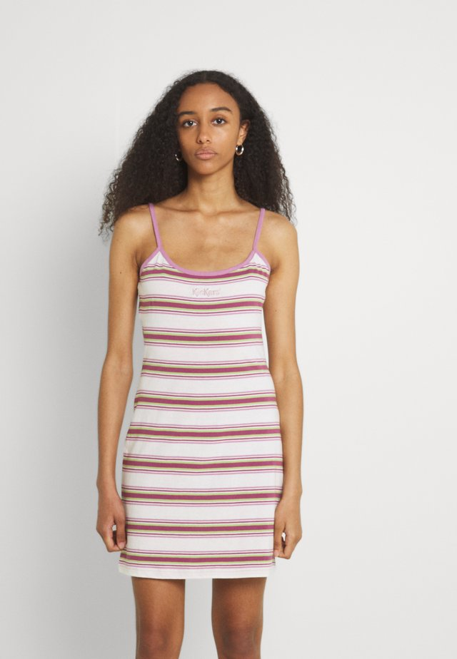 STRIPE CAMI DRESS - Sukienka z dżerseju - multi