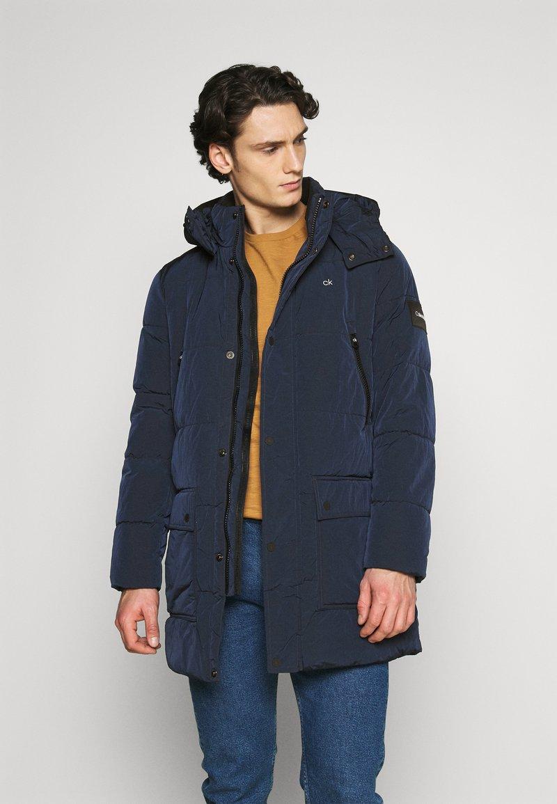 Calvin Klein - CRINKLE LONG LENGTH JACKET - Winter coat - blue