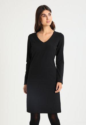 DENA SOLID - Vestito di maglina - black